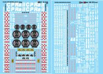 HO Scale NOS Microscale 87-721 Canadian Pacific Autoracks CP Rail