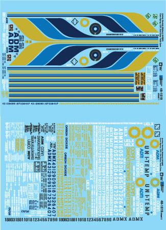 Ft 5800 Cu 5250 Microscale Decal HO #87-1448 Archer Daniels Midland ADMX 4650