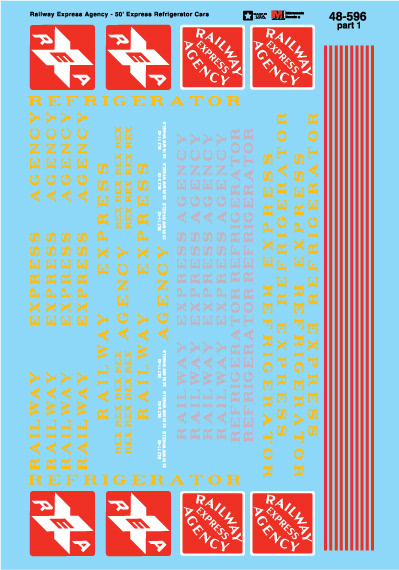 Microscale 48596 O REA 50' Wood Exp Rfr '29-60 460-48596