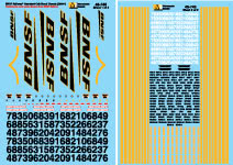 Green /& Orange Microscale Decal HO  #87-1023 BNSF Diesel Heritage I