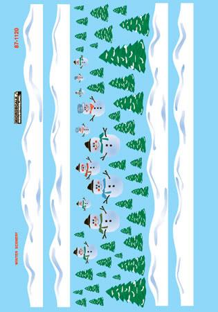 MSI601120 Microscale Inc N X-Mas Snowman Scenes 460-601120