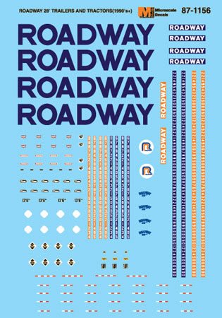 MSI601156 Microscale Inc N Roadway 28' Tractor/Trlr 460-601156