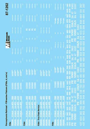 MSI601262 Microscale Inc N PRR F30 Flat Cars 460-601262