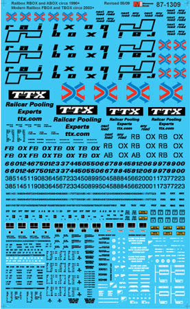 Microscale 601309 N Railbox RBOX & ABOX Modern Railbox FBOX & TBOX Boxcars circa 1990+ 2003+