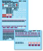 """Microscale Decal N  #60-389 MILW Diesels E9B/"""" E9A"""