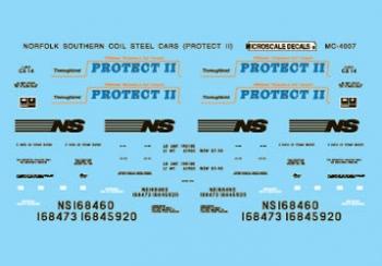 MSI604007 Microscale Inc N NS Coil Steel Cars 460-604007
