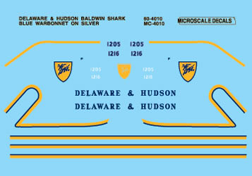 MSI604010 Microscale Inc N D&H Diesel Baldwin Shark 460-604010