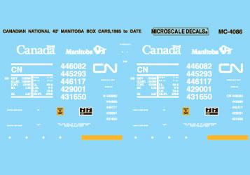 MSI604086 Microscale Inc N CN Manitoba 40' Box 1985+ 460-604086