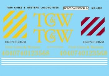 MSI4092 Microscale Inc HO TCWR Diesels 1989+ 460-4092