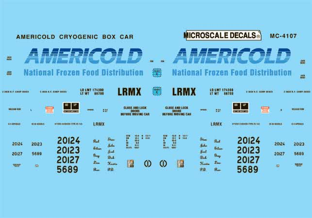 MSI604107 Microscale Inc N Americold Cryro Box car 460-604107