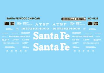 Microscale 604128 N Railroad Decal Set ATSF Woodchip Cars 1985+