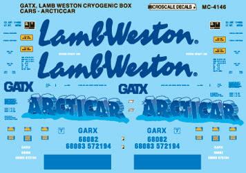 Microscale 604146 N Railroad Decal Set General American Cryogenic Box Cars 1995+