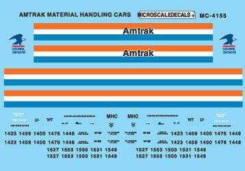 Phase III Microscale Decal N  #60-4155 Amtrak Material Handling Car