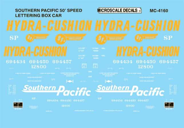 Microscale 604160 N SP 50' spd lettering box 460-604160