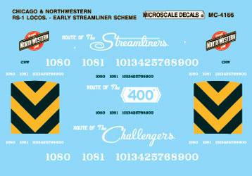 Microscale 604166 N CNW RS-1 Early Strmlnr 460-604166