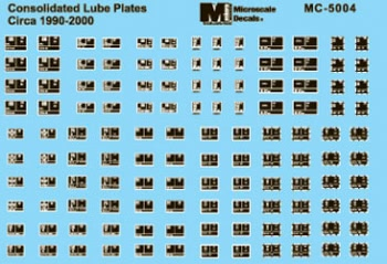 Microscale 5004 HO COTS Lube Plates '90-2000 460-5004