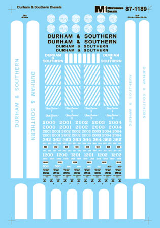 Microscale 601189 N Durham & Southern D&S Diesel Hood Units