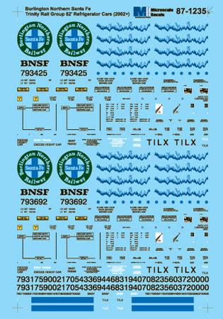 Microscale 601235 N Burlington Northern Santa Fe BNSF 82' Mechanical Reefers 2002+