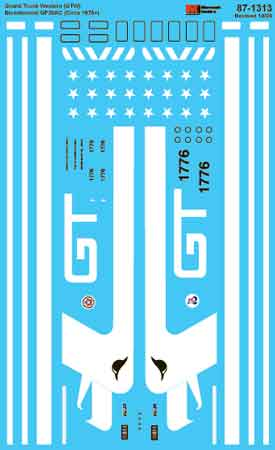 Microscale 601313 N Grand Trunk Western GTW GP38AC #1776 Bicentennial Diesel 1976+