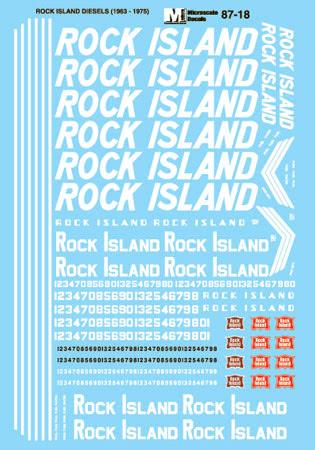 Microscale 6018 N Railroad Decal Set Rock Island Diesels 1963-1975