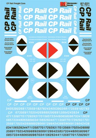 Microscale 60221 N Railroad Decal Set Canadian Pacific Rail Freight Cars 1969-1995