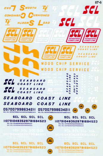 Microscale 876 HO Seaboard Coast Line SCL General Service Freight Cars 1967-1974