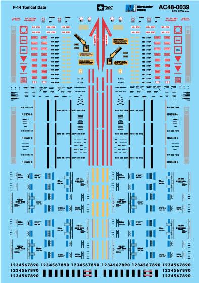 Microscale AC480039 1-48 Military Decal Set F-14 Tomcat Data