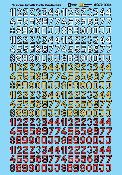 Microscale AC720034 1-72 Military Decal Set Luftwaffe Fighter Codes