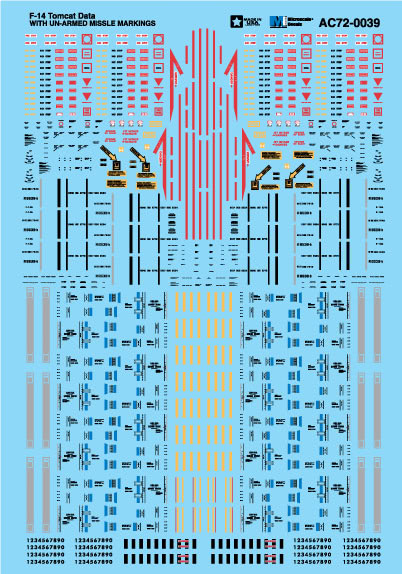 Microscale AC720039 1-72 Military Decal Set F-14 Tomcat Data