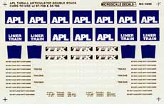 Microscale 604096 N Railroad Decal Set APL Thrall Double Stack 1986+