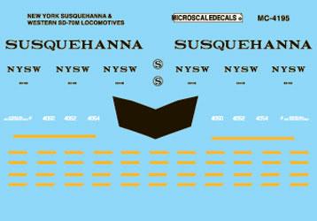 Microscale 604195 N New York Susquehanna & Western SD70M Diesels 1996+