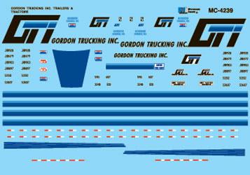 Microscale 604239 N Gordon Trucking Inc Trailers and Tractors 1990+