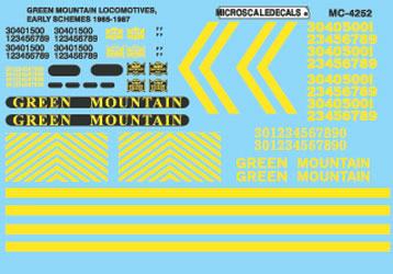 Microscale 604252 N Green Mountain GM Diesels 1965-87