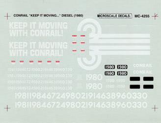 Microscale 604255 N Diesels B23-7 CR Keep It Moving w/ Conrail 1980