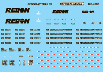 Microscale 604262 N Railroad Decal Set Redon 48' Box Containers