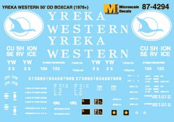 Microscale 604294 N Yreka Western YW 50' Box Cars