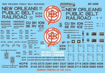 Microscale 604299 N New Orleans Public Belt Railroad 50' Box Car 1977+