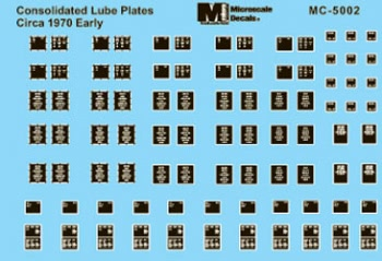 Microscale 5002 HO Consolidated Lube Plates Early 1970s